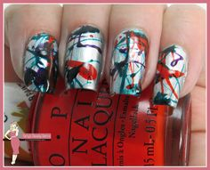 http://www.bettysbeautybombs.com/2015/07/06/opi-colorpaints-splatter/ / OPI Colorpaints Splatter Nail art