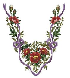 Flowers on slippers antique cross stitch pattern for by Smilylana