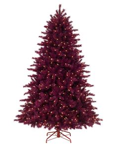 Treetopia - Cranberry Crush Christmas Tree Dark Red Christmas Trees #CranberryCrush #ChristmasTree. Imagine this spicing up a very traditional collection of ornaments and ribbons. Burgundy, gold and hunter greens are given a funky twist with this tree. This could also be stunning covered in gold ornaments and angels.