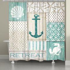coastal retreat shower curtain