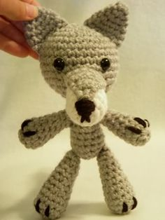 Amigurumi Wolf. Made this for a friend. :3  It turned out looking like a Koala! Haha