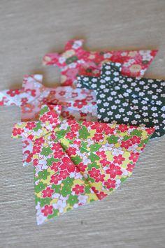 Cuadros con vestidos de origami