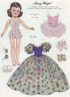 Paper Doll DOLL MARY HOYER by Pat Stall 1 of 2