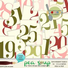 pea soup december 12 - december daily dated journaling cards by Polka ...