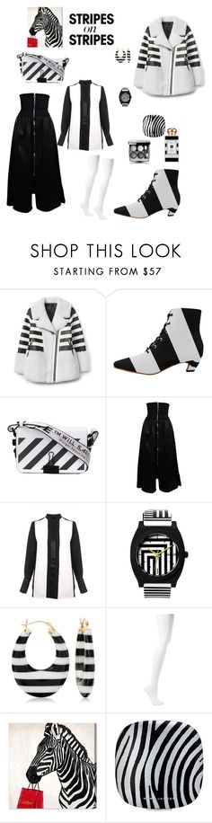"""""""jailbaite"""" by mzstyleandklass ❤ liked on Polyvore featuring Off-White, Paco Rabanne, Victoria, Victoria Beckham, Ross-Simons, Balenciaga, Oliver Gal Artist Co., Marc Jacobs, Chanel, Jo Malone and stripesonstripes"""