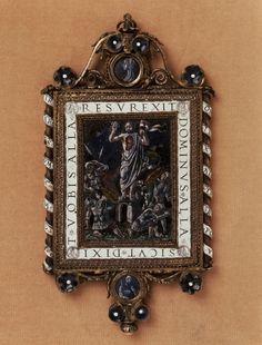 Hanging plaque HISTORIC PERIOD1490-1500 TECHNIQUE SILVER SIZE143 X 64 MM