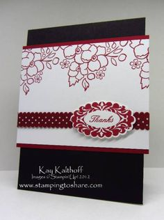 Romantic Thank You by Speedystamper - Cards and Paper Crafts at Splitcoaststampers