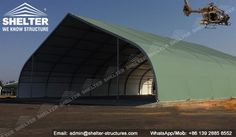 Shelter is a professional manufacturer offering sun shade military hangar solutions. All are the tensile fabric hangar in width from 20m 30m 35m 40m and etc