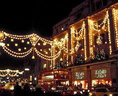 In londen met kerstmis gaan shoppen