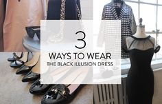 Style guide on wearing the classic Little Black Dress in 3 different ways! #ootd