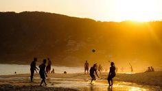 Sunset at Itacoatiara beach, Niteroi, Rio de Janeiro, Brazil!