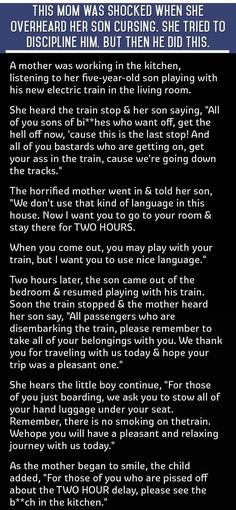 This Mom Was Shocked When She Heard Her 5 Year Old Son Cursing She Tries To Punish Him But Then He Says This! funny quotes quote jokes story lol funny quote funny quotes funny sayings joke humor omg stories