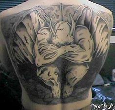 What does gargoyle tattoo mean? We have gargoyle tattoo ideas, designs, symbolism and we explain the meaning behind the tattoo. 42 Tattoo, Demon Tattoo, Back Tattoo, Tattoo Pics, Pixel Tattoo, Weird Tattoos, Tattoos For Guys, Tatoos, Simple Angel Tattoos