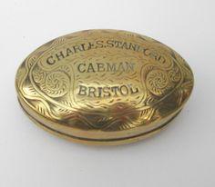 19thc Brass Snuff Box