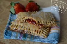Gluten Free Dairy Free Homemade Strawberry Poptarts - Once A Month Meals - Freezer Meals