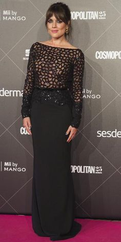Adriana Ugarte de Rubén Hernández Costura en los Premios Cosmopolitan