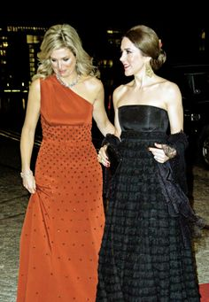 State Visit to Denmark: Day 2.King Willem-Alexander and Queen Máxima hosted a gala night in the Black Diamond of Copenhague in thanksgiving for being hosted by the Danish Royal Family. 18 March 2015.