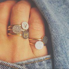 #OOTD --> AEON AEON AEON  Our 18k solidgold diamond rings #minitials #minitialsmoments #18k #solidgold #ring#diamondring#finejewelry #initialring#idjewelry#handmade#aeon#aeoncollection#engagementring#bridalinspiration#pushgift#pushpresent