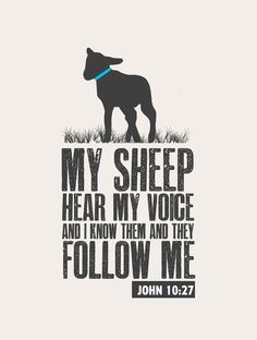 Are you one of his sheep ? You have to be one of his to want to follow him.