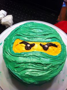 Ninjago cake...KM wanted ninjago bday so I made one like this... came out perfect :)