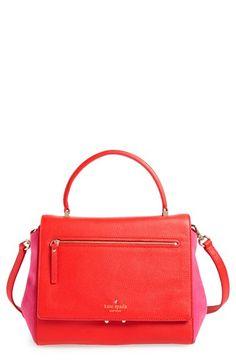 Red Bag With Pink Suede Trim Kate Spade New York Matthews