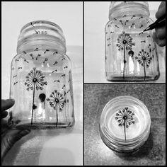 Made by Me: Porcelænsmaling nu som kattefad og dekoration på gamle glaskrukker