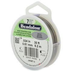 Beadalon 0.024in0.61mm 7 strand bead stringing by BeadsFABUCRAFT, $3.75