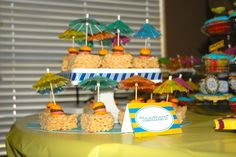 Sandbars Made these for Eric's Jimmy Buffet themed 30th birthday celebration.  Super easy and SO cute!