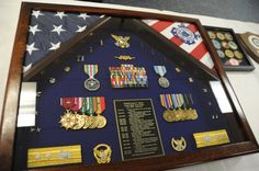Military Shadow Box Examples | Start @ $245.00 Contents not included