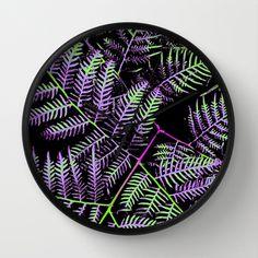 Purple & Green Bracken Wall Clock by Moonshine Paradise $30.00