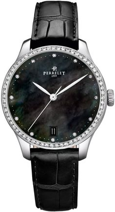Perrelet Watch First Class Lady #add-content #bezel-diamond #bracelet-strap-alligator #brand-perrelet #case-depth-10mm #case-material-steel #case-width-35mm #date-yes #delivery-timescale-1-2-weeks #dial-colour-black #gender-ladies #luxury #movement-automatic #official-stockist-for-perrelet-watches #packaging-perrelet-watch-packaging #style-dress #subcat-first-class-lady #supplier-model-no-a2070-4 #warranty-perrelet-official-2-year-guarantee #water-resistant-50m