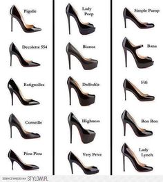 Christian Louboutin Shoe Style Guide - one of each please
