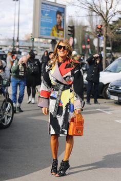 topshop:  Anna Dello Russo is always a step ahead when it comes to setting colour trends.
