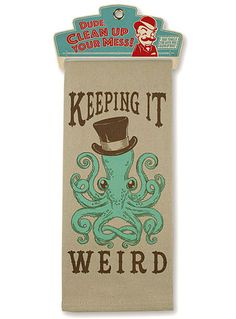 Keeping It Weird Octopus Bar Towel at PLASTICLAND