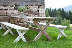 LL0414 Snekre utemøbler hagemøbler Bord og benk gjør det selv Småbrukerskills Liv Sandvik Jakobsen=