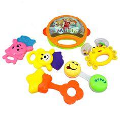 2pcs Kunststoff Baby Rasseln schütteln Musik Jingle Ball pädagogischen Spielzeug