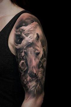 Cowgirl Tattoos, Western Tattoos, Horse Tattoos, Head Tattoos, Arm Tattoo, Pretty Tattoos, Beautiful Tattoos, Animal Tattoos For Women, Horse Tattoo Design
