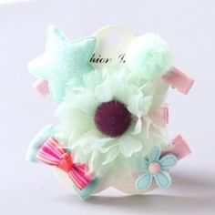 Obedient Korea Cotton Flower Crystal Crown Side Bangs Clip Hair Accessories Rim Hair Clips For Girls Hairpin Bow K Hairgrips Girl's Hair Accessories Girl's Accessories