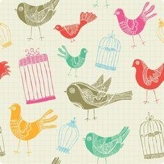 Papel de Parede Autocolante - Pássaros 1024