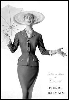 Fifties Fashion, 50 Fashion, Fashion Brands, Womens Fashion, Classic Fashion, Classic Style, Pierre Balmain, Retro Mode, Vintage Mode