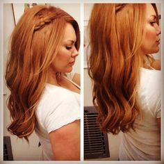 How to get Strawberry Blonde Hair at home: www.GirlGetGlamorous.com