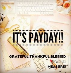 Hooray it's payday!!!! My side business amazes again! We are so blessed with this extra money each month! This month I am going to be taking my family on a mini vacation this weekend!   Interested in what this is all about!??? Comment, message, or text/call me and I'll get you the info!