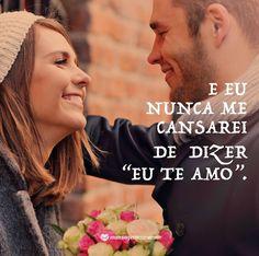 Um amor verdadeiro não se cansa, ele só se fortalece! <3