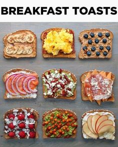 Love Toast In The Morning? Jazz Yours Up With These 9 Delici.- Love Toast In The Morning? Jazz Yours Up With These 9 Delicious Breakfast Toast Recipes Love Toast In The Morning? Jazz Yours Up With These 9 Delicious Breakfast Toast Recipes - Think Food, Love Food, Comidas Fitness, Breakfast Toast, Diet Breakfast, Quick Breakfast Ideas, Healthy Morning Breakfast, Vegetarian Breakfast, Breakfast Quesadilla