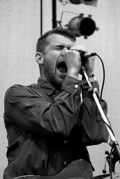 Brand New - Jesse Lacey. Hair looks amazing btw.