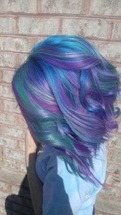 Pulp riot mermaid hair! #hairbysydneymadison