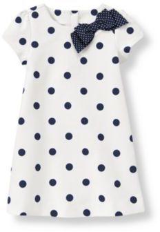 ShopStyle: Janie and Jack Bow Dot Ponte Dress