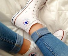 White high top converse !