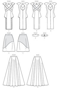 M6941 | Misses' Tops, Skirts and Belt | New Sewing Patterns | McCall's Patterns