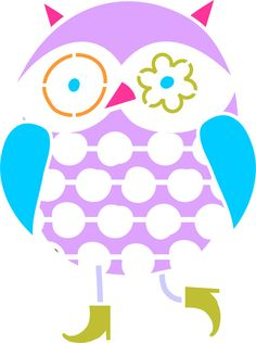 Quickly and easily paint a fabulous and unique design in your home with our Bright Eyes Owl Stencil!